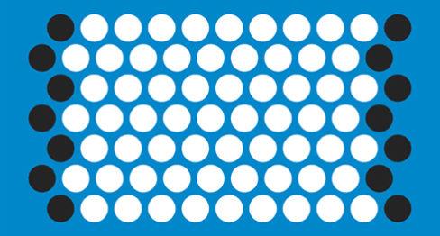 Нормално шахматно разположени редове (пълна шарка)