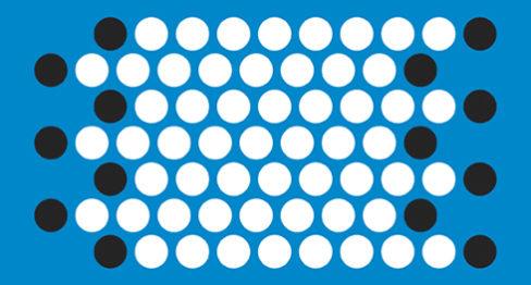 Двойно изместени редове (непълна шарка)