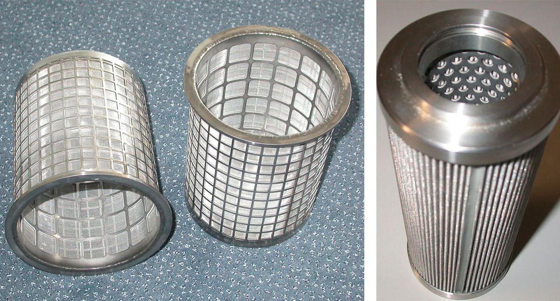 Перфорирана ламарина за направата на опорни тръби за филтърни патрони
