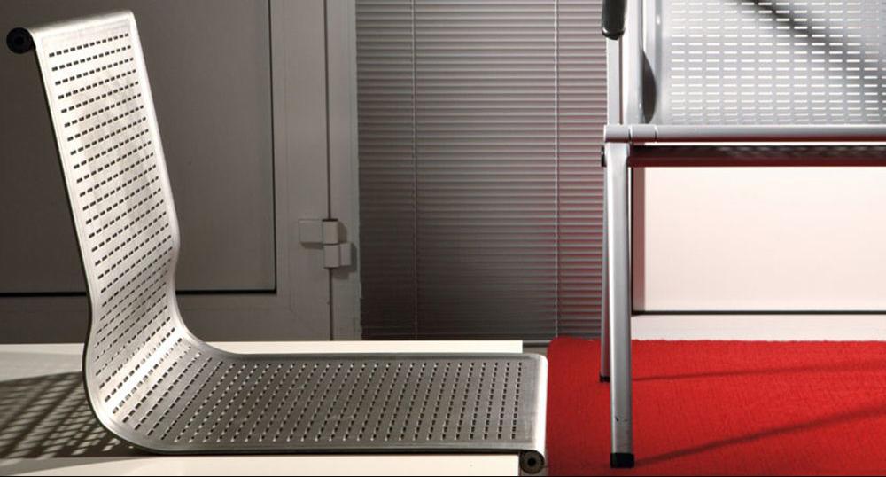 Модерни мебели от неръждаема стомана, подходящи за вътрешна и външна употреба