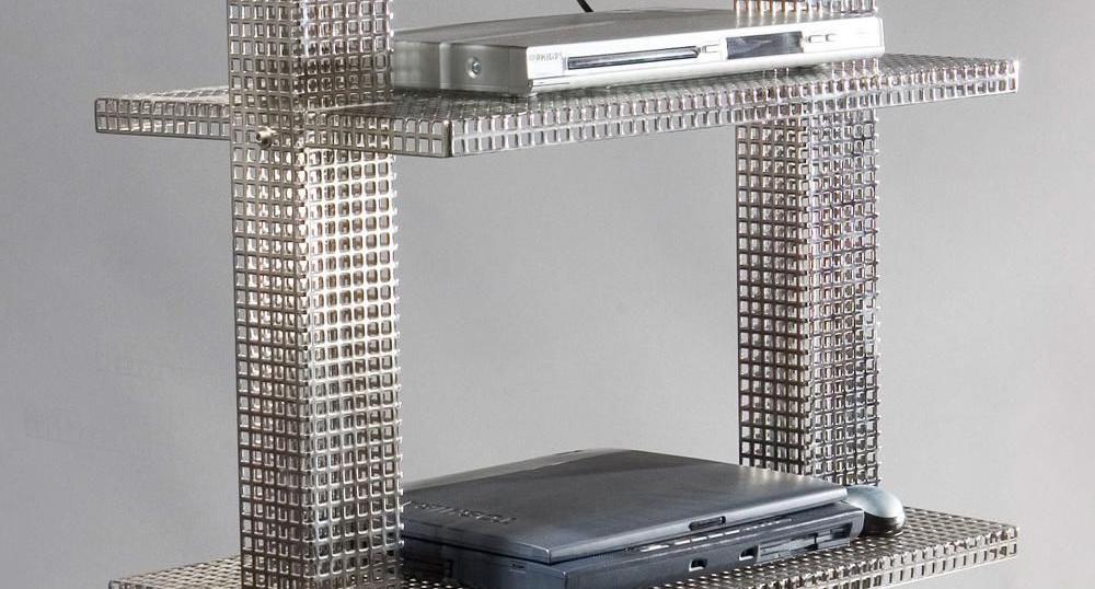 Поставка за телевизор от електролитно полирана неръждаема стомана